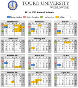 TUW 2013 - 2014 academic calendar
