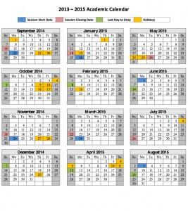 TUW 2014 - 2015 academic calendar