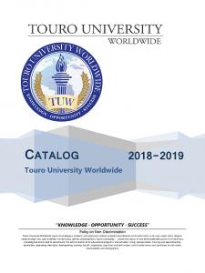 2018-2019 University Catalog