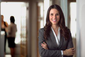 Happy smiling female Public Administrator