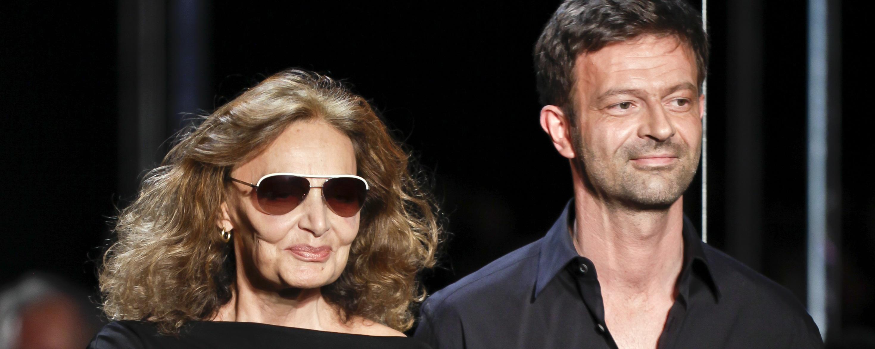 Diane von Furstenberg and Yvan Mispelaere