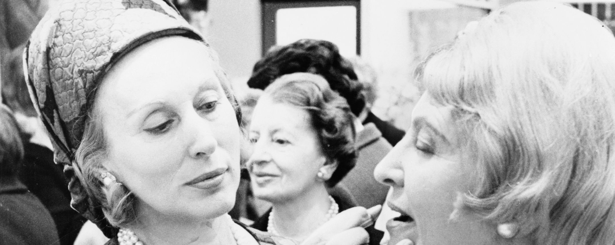 Estee Lauder applying makeup on a customer, 1966.