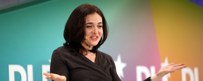 Sheryl Sandberg of Facebook Speaking at Conference