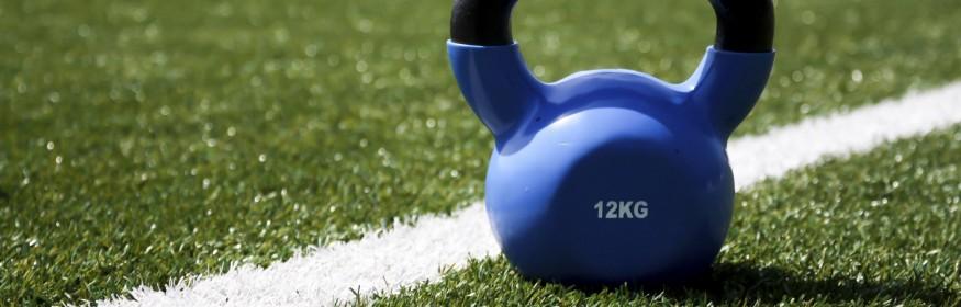 12kg weight on football field
