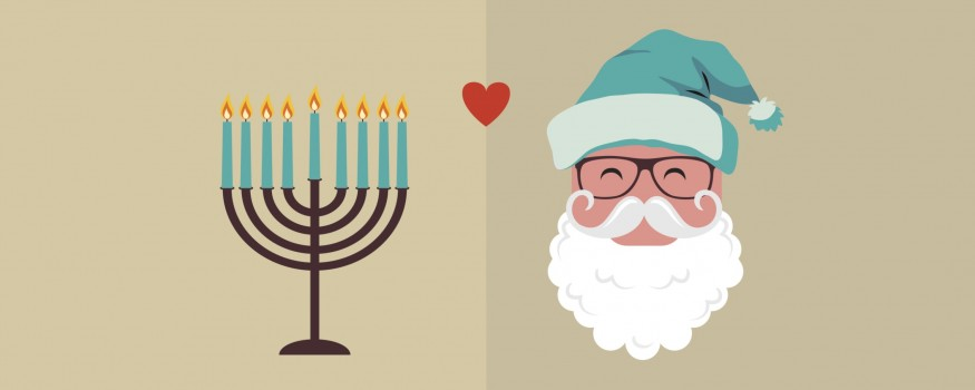 Menorah And Santa Clause