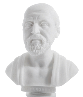 Hippocrates Bust Transparent Background