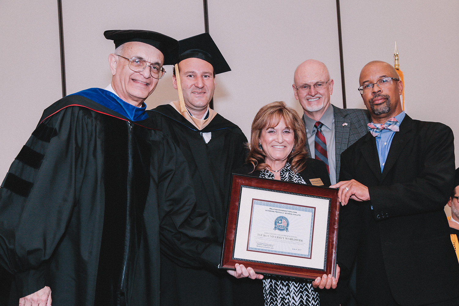 L-R: Dr. Yoram Neumann, Mr. Roy Finaly, General Jim Combs, Mrs. Debbie Gregory and Mr. Michael Johnson