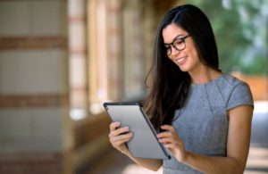 Female MBA Student Online