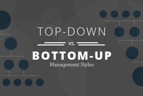 Top-down vs. Bottom-up Management Styles
