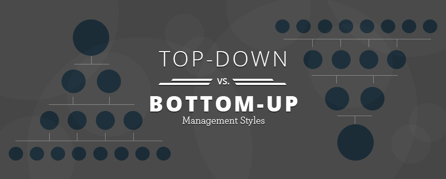 Top Down Vs Bottom Up Management Styles Compare Leadership Styles